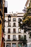 Traditional Spanish architecture in downtown Madrid royalty free stock photos