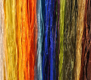 View of colorful textile cords Stock Photo