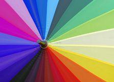 Colorful umbrella view Stock Photo