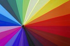 Colorful umbrella view Royalty Free Stock Photo