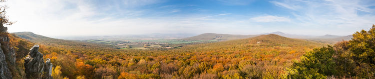 View of colorfull valley Stock Photo