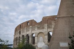 View of the Coloseum. Rome, italy - November 21, 2017 : View of the Colosseum in Rome Royalty Free Stock Photography