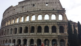 View of the Colosseo in Rome. Colosseo exterior view in Rome Royalty Free Stock Photo