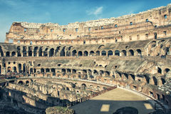 View of the Colosseum Amphitheater in Rome Royalty Free Stock Photo