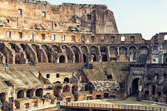View of the Colosseum Amphitheater in Rome Stock Photography