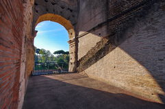 View from Colosseum - landmark attraction in Rome, Italy Stock Image