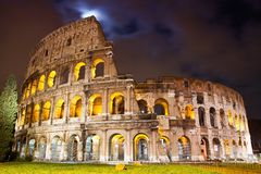 View of the Colosseum at night Royalty Free Stock Image