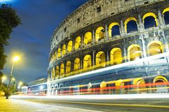 View of the Colosseum at night Royalty Free Stock Photo