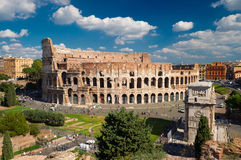 View of the Colosseum in Rome. Italy Stock Photography