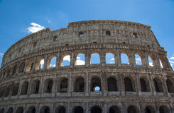 View of Colosseum in Rome with blue sky Italy, Europe. Royalty Free Stock Photo