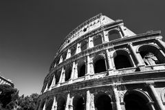 View of Colosseum in Rome at daytime Stock Photo