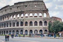 View on Colosseum in Rome, Italy Stock Image