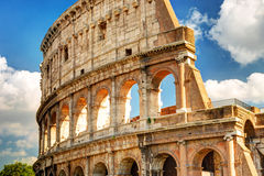 View of the Colosseum in Rome Stock Photography