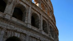 Track shot on the colosseum, Rome Italy. View on the colosseum, Rome Italy stock footage
