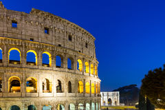 View of Colosseum in Rome at sunrise, Italy, Europe.  Royalty Free Stock Images