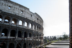 View of Colosseum in Rome. Unusual view of the Colosseum in Rome Stock Photo