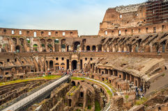 View of The Colosseum. Ruins Colosseum in The Ancient Part of Roma Royalty Free Stock Photos