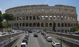 View of Colosseum on a sunny day. Rome, Italy. Stock Photography