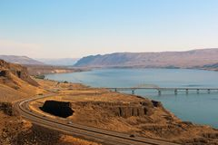 View of Columbia river. Beautiful view of Columbia river, WA, USA royalty free stock images