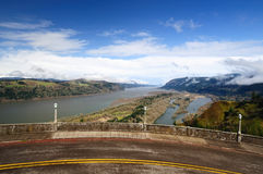 A view from The Columbia River George and the Vist Stock Photos