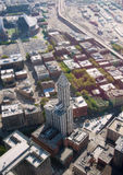 View from Columbia tower on Smith Tower Royalty Free Stock Images