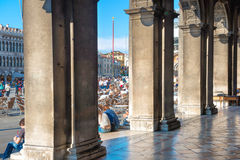 View from the columns of Doge Palace Royalty Free Stock Images