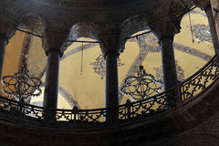 View of columns of Hagia Sophia Stock Photos