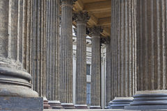 View of the columns Kazan Cathedral Royalty Free Stock Image