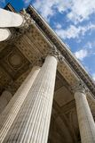 A view of the columns of the Pantheon in Paris Stock Photo