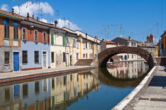 View of Comacchio. Emilia-Romagna. Italy. Royalty Free Stock Photography