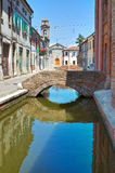 View of Comacchio. Emilia-Romagna. Italy. Stock Photo