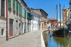 View of Comacchio. Emilia-Romagna. Italy. Royalty Free Stock Photos
