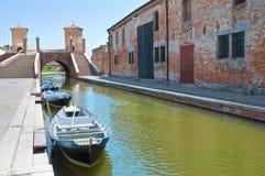 View of Comacchio. Emilia-Romagna. Italy. Stock Image