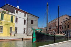 View of Comacchio, Ferrara, Emilia Romagna, Italy Royalty Free Stock Photos