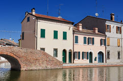 View of Comacchio, Ferrara, Emilia Romagna, Italy Royalty Free Stock Photography