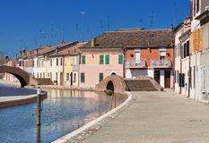 View of Comacchio, Ferrara, Emilia Romagna, Italy Stock Photos