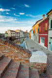 View of Comacchio, Ferrara, Italy. Royalty Free Stock Photo