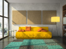 View on the comfortable living-room Stock Photography