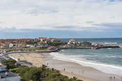 View of Comillas, Cantabria, Spain. Stock Photography
