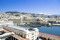 Port of Genova in Italy royalty free stock image