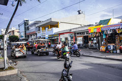 View of a Commercial Intersection in San Andres, Colombia Stock Photos