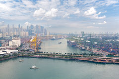 View of the commercial port of Singapore Royalty Free Stock Photo
