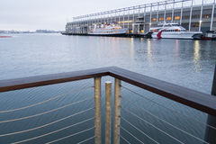 View Commonwealth Pier Boston waterfront Royalty Free Stock Photo