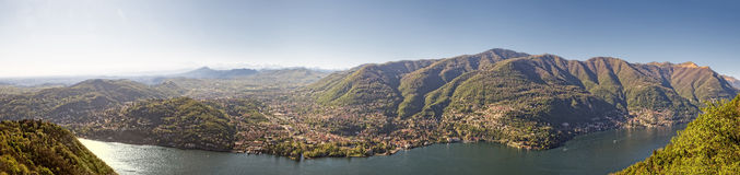 View at Como from Brunate Royalty Free Stock Images