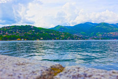 The view of Como lake, Bellagio, Italy. Stock Images