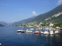 View at Como Lake and boats Royalty Free Stock Photo