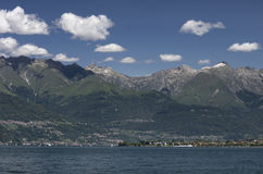 View of the Como Lake Royalty Free Stock Photography