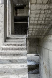 View of the Concrete stairs in the unfinished House Royalty Free Stock Photos