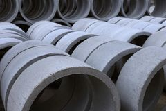 View of Concrete tubes Royalty Free Stock Images