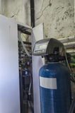 View of a condensing boiler Royalty Free Stock Photo